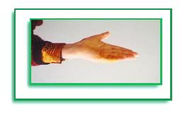 Picture of a woman's hand (stage II)at the end of the session.